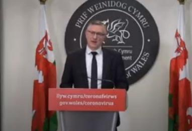 NHS Wales chief executive Dr Andrew Goodall at today's Welsh Government coronavirus press briefing
