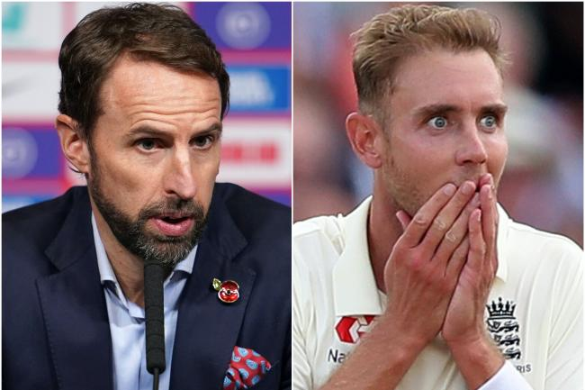 Gareth Southgate and Stuart Broad