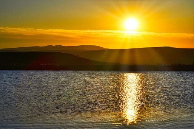 The sun sets over the Keepers Pond, near Blaenavon. Picture: South Wales Argus Camera Club member Robin Birt