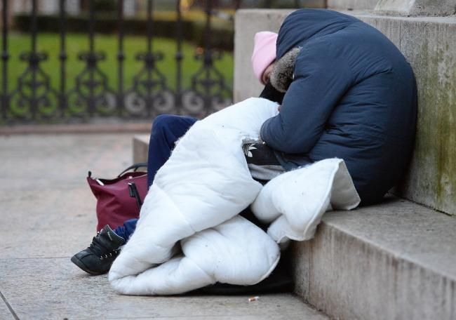 File photo of homeless people sleeping. Picture: Nick Ansell/PA Wire