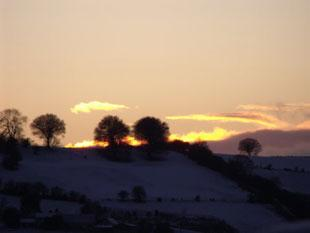 Ochrywyth mountain at sunset. Carly Preece, of Ty-sign, Risca.