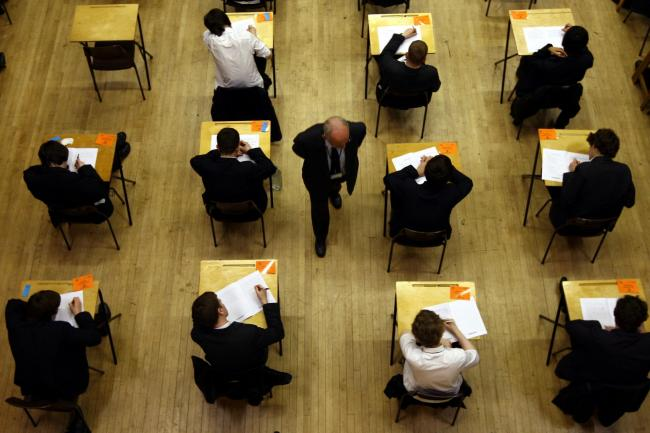 Pupils sit an exam. Picture: David Jones/Pa Wire