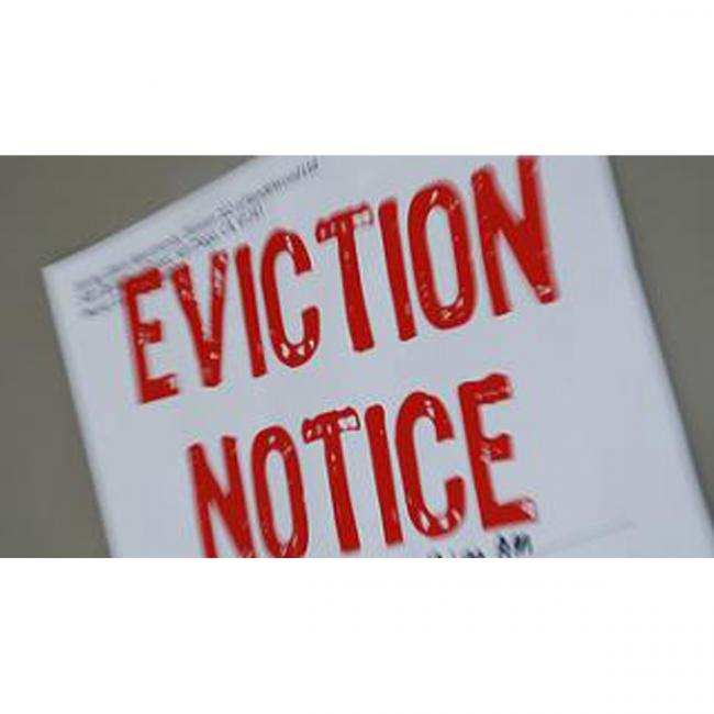Eviction notice 2685166.
