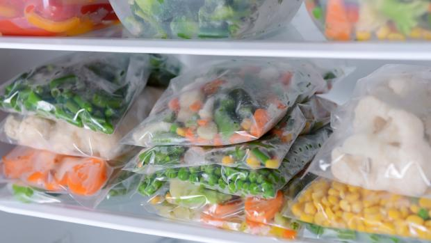South Wales Argus: Free up unused space by freezing foods flat in bags and stacking them on top of each other. Credit: Getty Images / serezniy