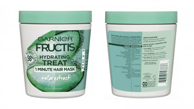 South Wales Argus: Hydrate your hair with the Garnier Fructis 1 Minute Nourishing Hair Mask. Credit: Garnier