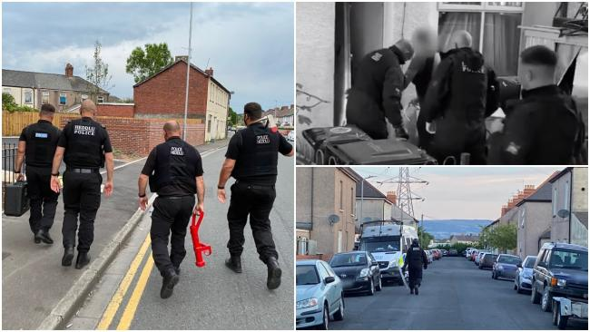 Officers carried out a series of raids across Newport. Pictures: Gwent Police