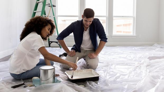 South Wales Argus: Prepping your workspace with a drop cloth or plastic covering is a key part of the process. Credit: Getty Images / SDI Productions