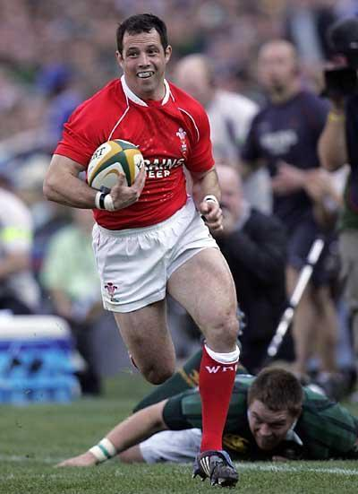 Gareth Cooper in action for Wales in 2008