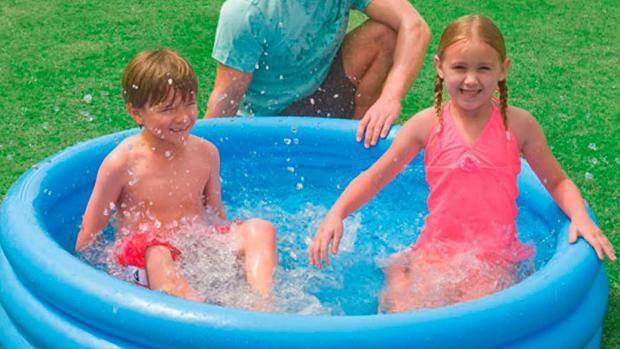 South Wales Argus: Lower your body temp with this inflatable pool. Credit: Intex
