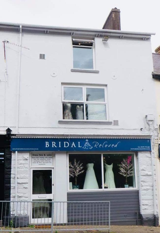 Bridal Reloved and Mizz Congeniliaty shop in Old Cwmbran, which is closing at the end of July due to the coronavirus pandemic