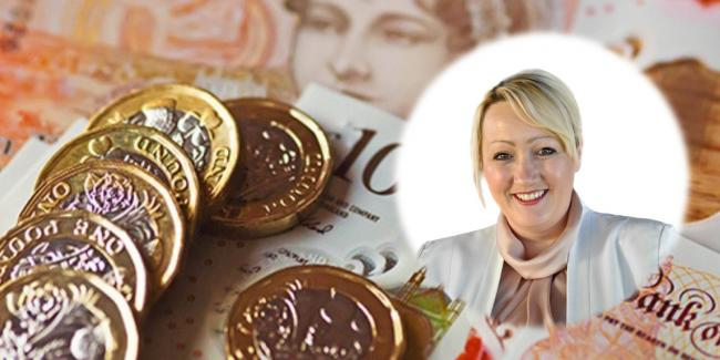 Finance minister Rebecca Evans has annouced funding to manage problem debt in Wales