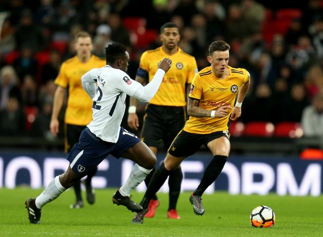 07.02.18 - Tottenham Hotspur v Newport County - FA Cup Fourth Round Replay - .Ben White of Newport on the attack..