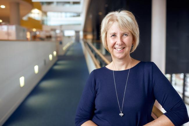 University of South Wales lecturer Dr Sharon Drew has achieved her PhD having retaken her GCSEs in her thirties. Picture: University of South Wales