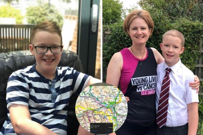 Angus Caton's family and teacher will take part in a walk from Dean Close School in Cheltenham to Deer Park in Pembrokeshire. They will pass through Monmouthshire on Sunday, August 2