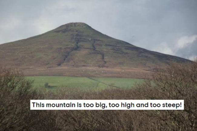 One person doesn't quite understand what a mountain is. Picture of Sugar Loaf: Niccie Tyler