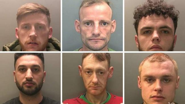 The faces Gwent Police wants you to see this weekend. Picture: Gwent Police