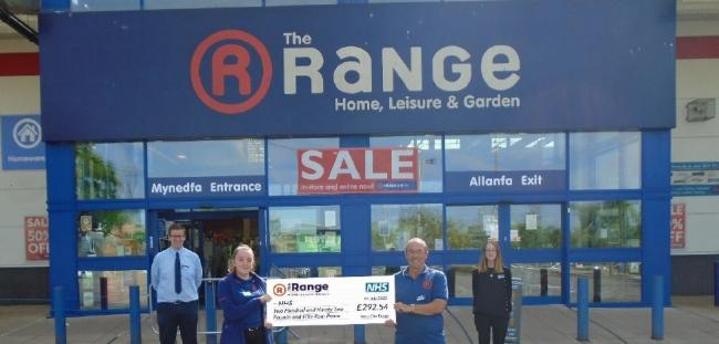 Newport's The Range contributes towards £51k total for NHS | South Wales  Argus