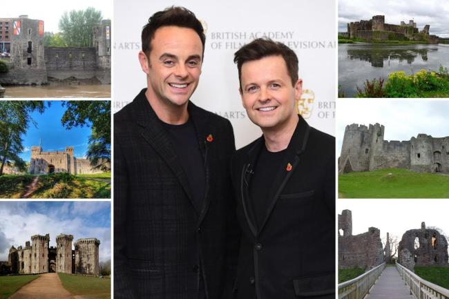 I'm A Celeb... hosts Ant and Dec will present the next season of the hit reality show from a castle in the British countryside. Could a castle in Gwent be chosen for the show? Picture (centre): Ian West/PA Wire