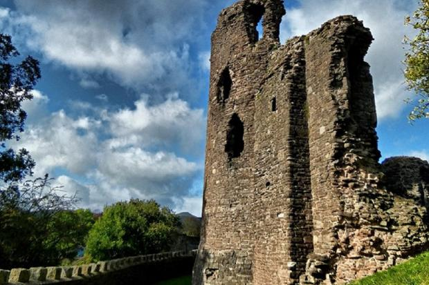 South Wales Argus: Abergavenny Castle. Picture: South Wales Argus Camera Club member Robin Birt
