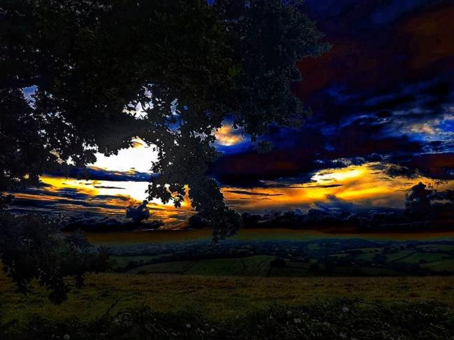 MOODY: A colourful sunset. 