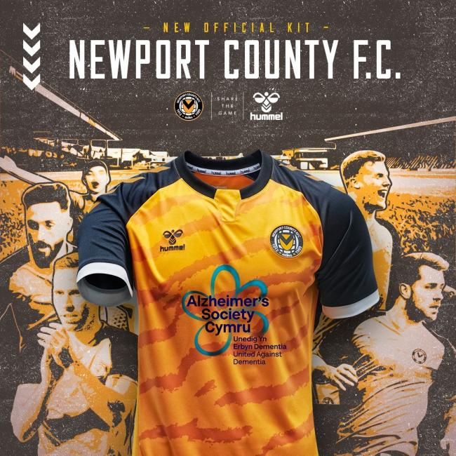 Newport County AFC's home shirt for the 2020/21 season