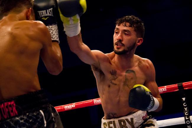 Andrew Selby in action during his professional boxing days. Picture: Liam Hartery (www.liamhartery.com)