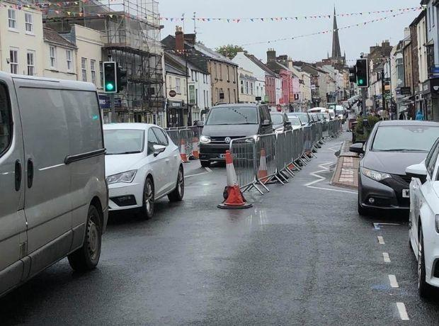 Traffic on Monnow Street this week