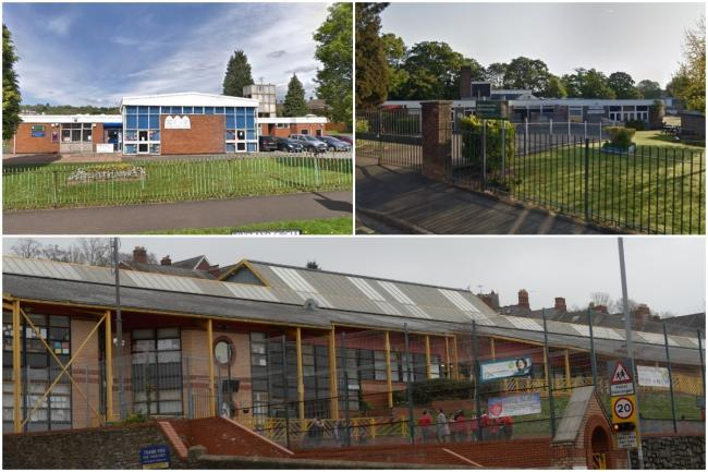ISOLATING: Pupils at St Gabriel's RC Primary School, Malpas Park Primary School and Eveswell Primary School(Clockwise from top left) have all been affected by coronavirus.