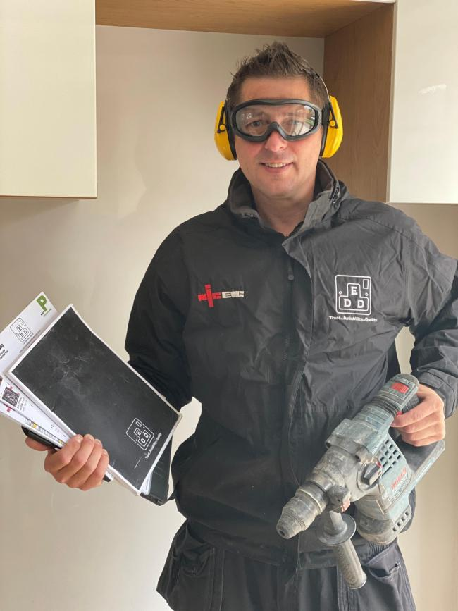 Anthony Warren, 44, who runs Electrical Design and Development, Caerphilly, who is a semi-finalist in a national Screwfix competition