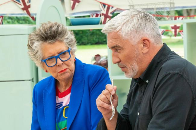 Judges Prue Leith and Paul Hollywood (Picture: C4/Love Productions/Mark Bourdillon/PA Wire)