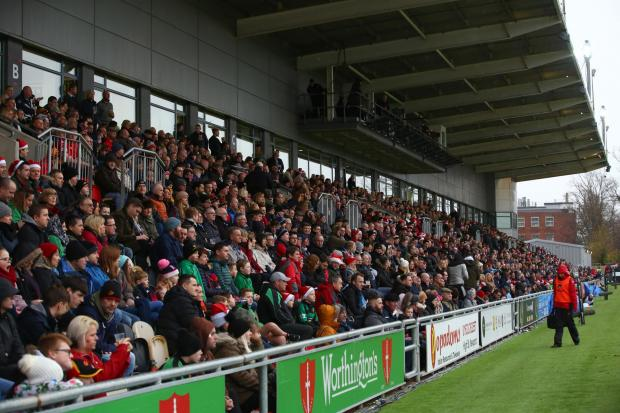 South Wales Argus: PACKED: The Bisley Stand was sold out in 2017 for the visit of Cardiff Blues