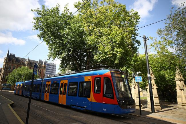 A tram in Sheffield. The LRTA believes a similar tram-train network in Newport could be the future of transport in the city. Picture: Tim Goode/PA Wire