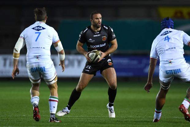 EXPERIENCED: Jamie Roberts helped the Dragons edge past Zebre at Rodney Parade