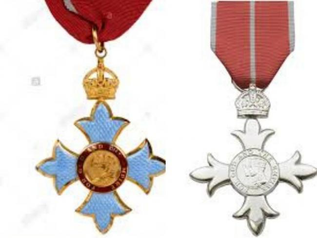 British Emopire Medal and an MBE medal