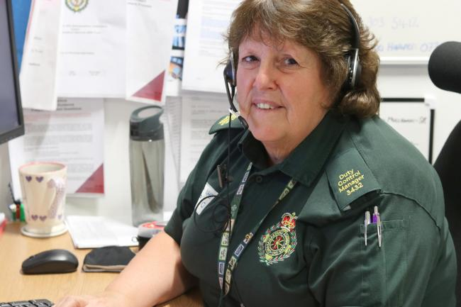 Kerry Burrows is a duty control manager for the Welsh Ambulance Service in Cwmbran. Picture: Welsh Ambulance Service.