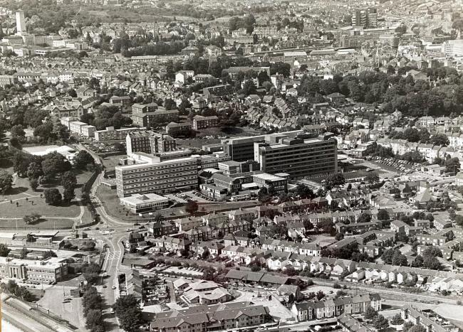 ABOVE: A view of the Royal Gwent Hospital taken in 1992
