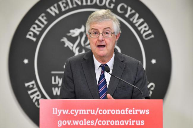 First minister of Wales Mark Drakeford speaking at a Welsh Government press conference on the coronavirus pandemic. Picture: Ben Birchall/PA Wire