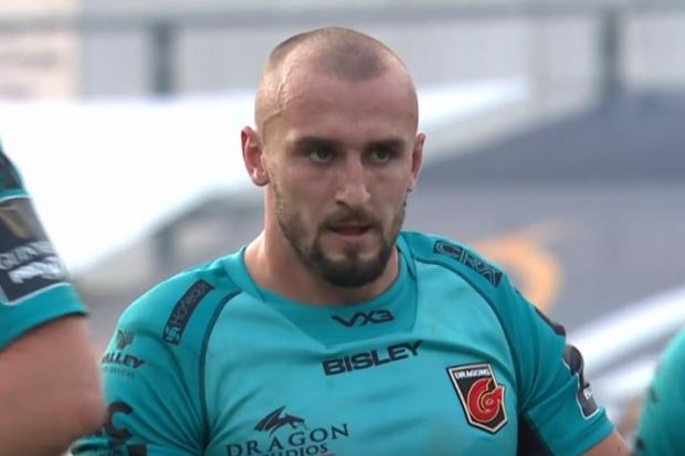 DYNAMIC: Ollie Griffiths returned for the Dragons in defeat at Ulster