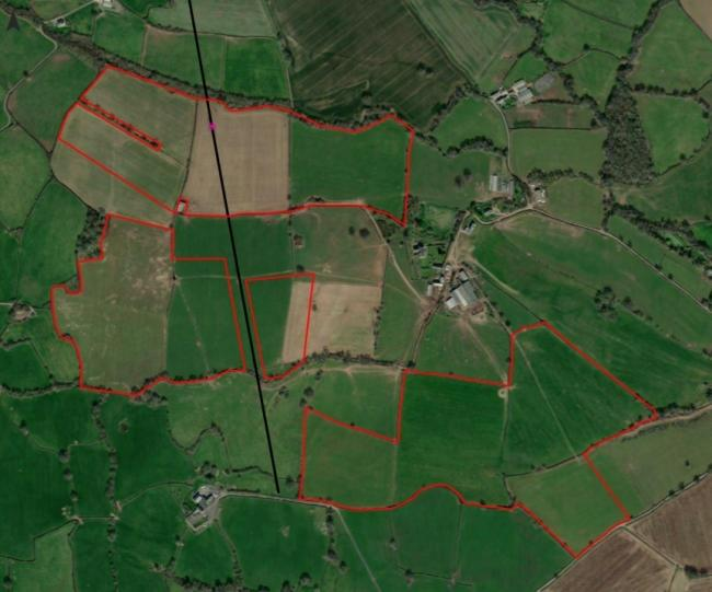 The solar farm is planned over 11 fields. Picture:  Great House Energy Limited/ Neo Environmental