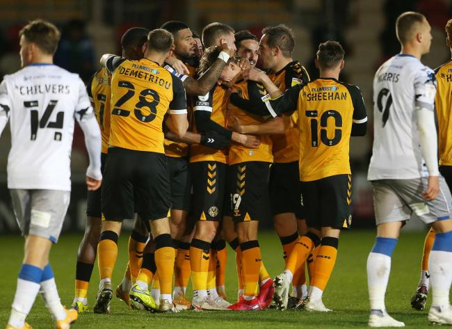 FLYING: Newport County AFC have made a superb start to the League Two campaign