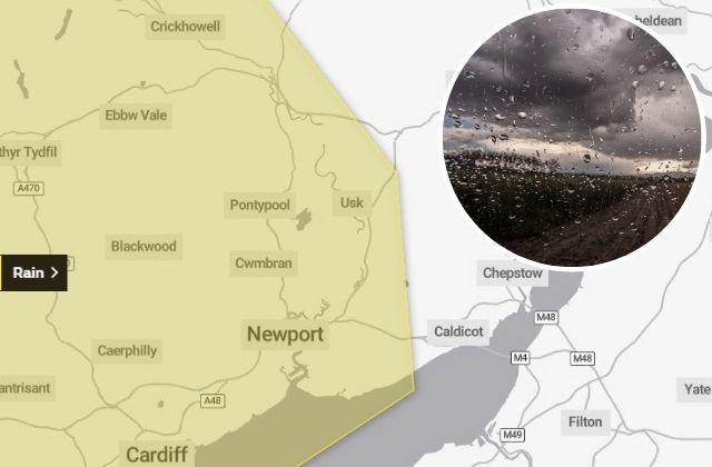 A weather warning for heavy rain has been extended over the weekend. Picture: Met Office