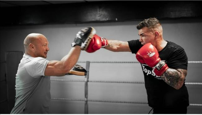 Jack Marshman training with Gavin Rees (Picture: @sashshots)