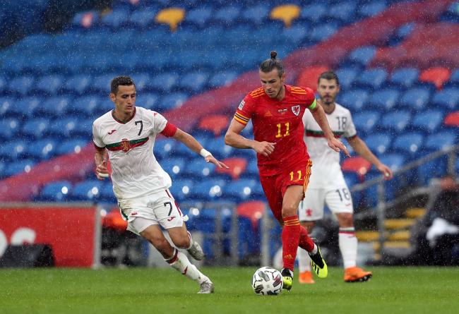 Gareth Bale in action for Wales during the UEFA Nations League match against Bulgaria in Cardiff, September 6 2020. Picture: David Davies/PA Wire