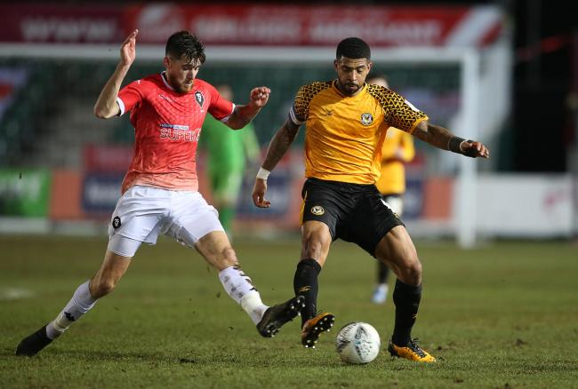 Newport captain Joss Labadie in action against Salford last season