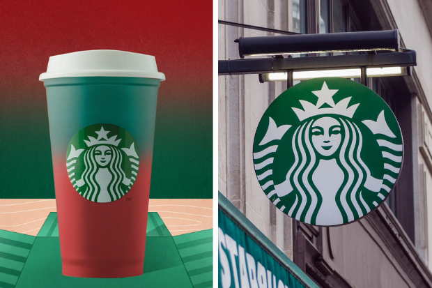 Starbucks Christmas 2020 Color Changing Reusable Hot Cup Green to Red with Lid