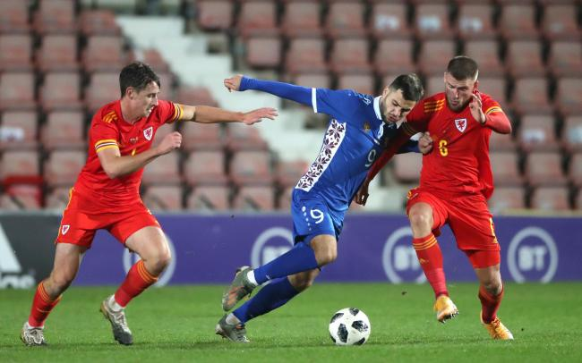 BATTLING: Brandon Cooper and Wales Under-21s pushed Germany all the way