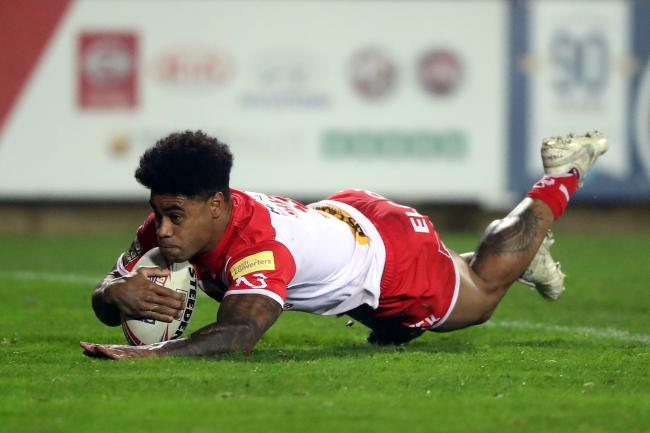 Kevin Naiqama scored a hat-trick for St Helens
