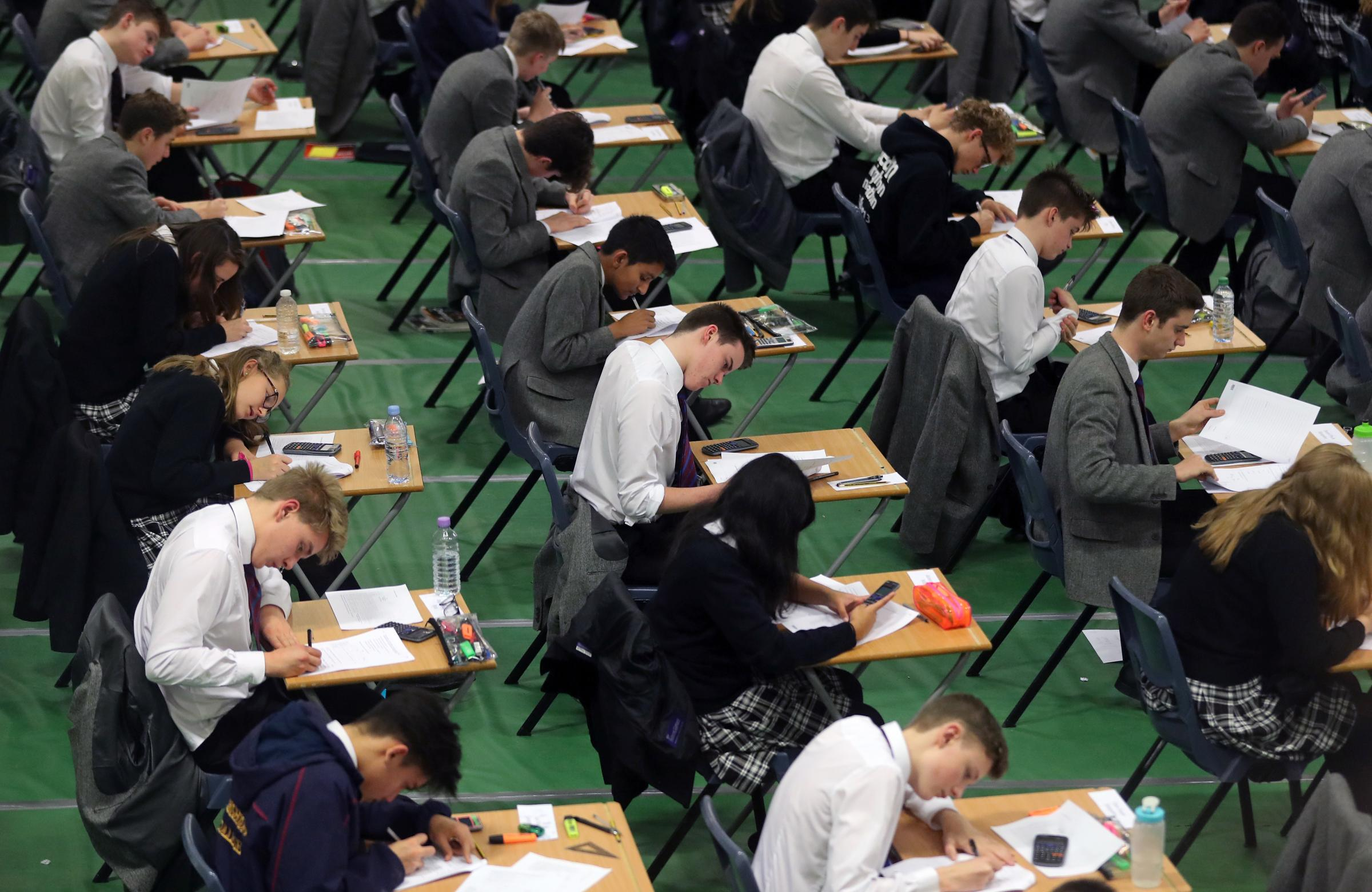 These are the January GCSE exams which have been cancelled in Wales