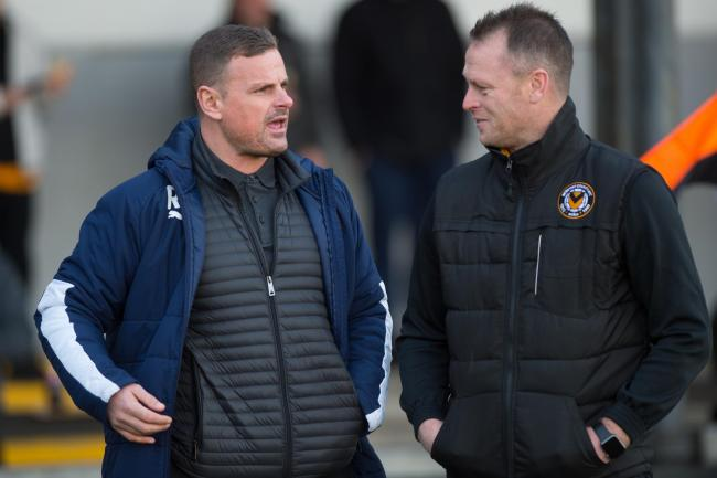 RIVALS: Salford boss Richie Wellens has questioned whether Michael Flynn's Newport have the quality to go up