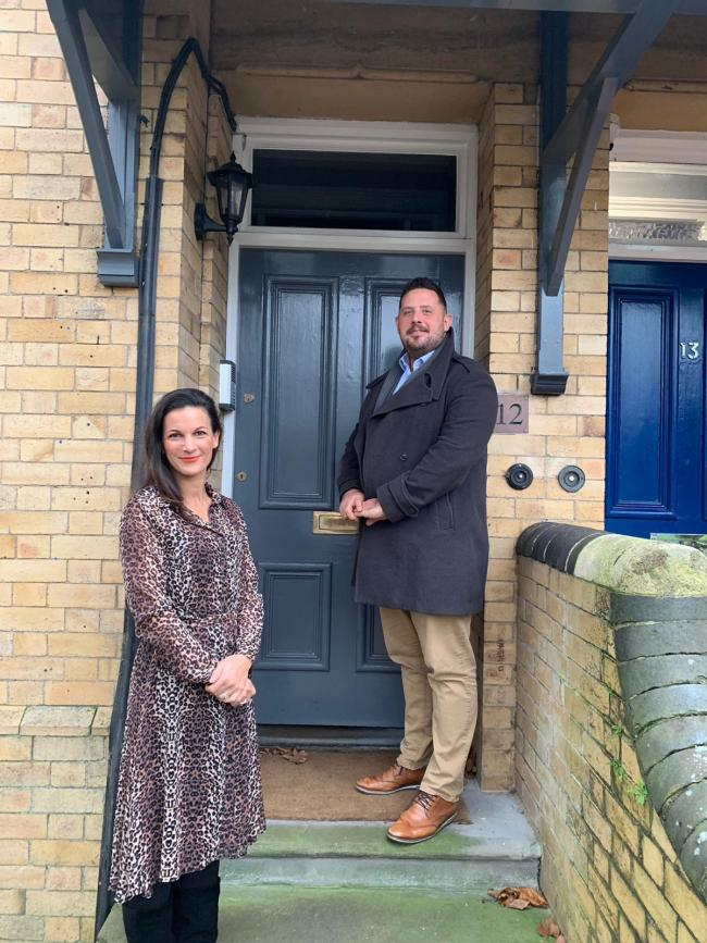 Victoria Morris and Jonathan Davies, of Foxwood Recruitment